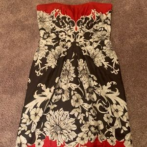 Strapless White House black-market dress